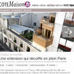 Extension surélévation bois sur immeuble parisien