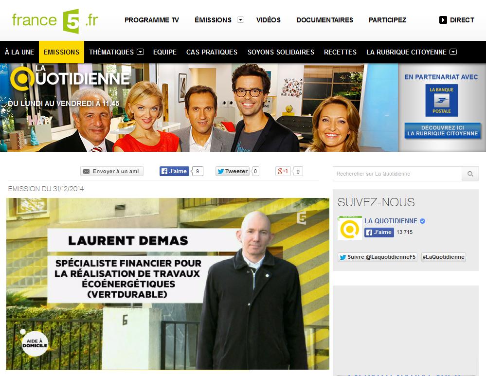 VertDurable sur France5 La Quotidienne