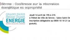 VertDurable présent à la conférence sur la rénovation énergétique en copropriété (Sèvres)