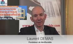 interview Forum APC Laurent Demas VertDurable financement de la rénovation