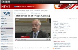 Interview de P de Margerie, Président de Total