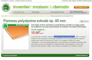 isolant extérieur polystyrène extrudé