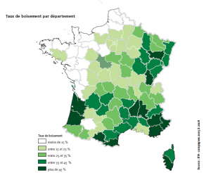 Boisement du territoire français